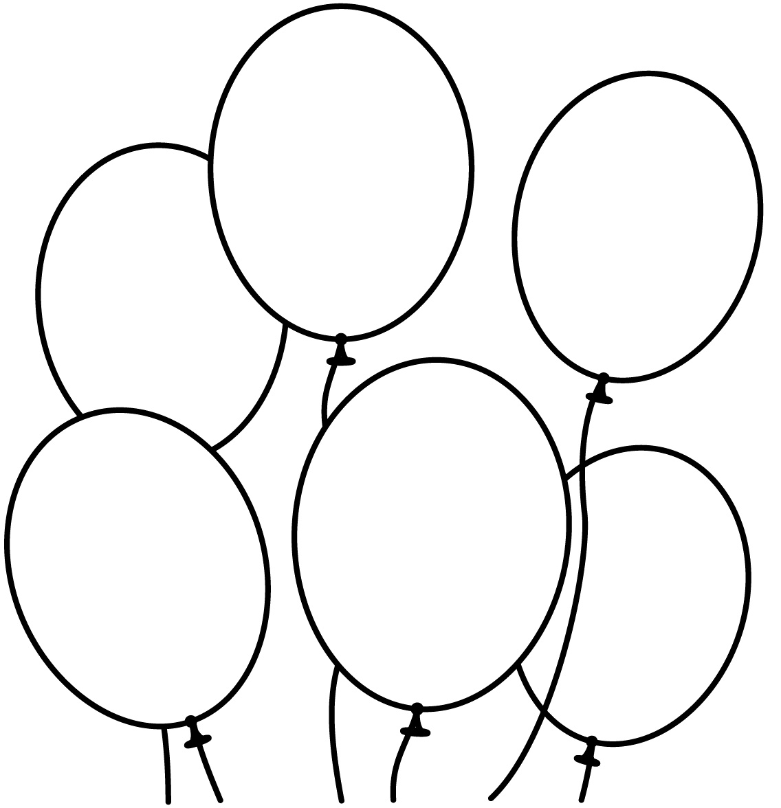 balloons to color free colouring sheets balloons clipart best to color balloons