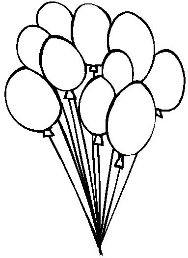 balloons to color globos dibujos para colorear balloons color to