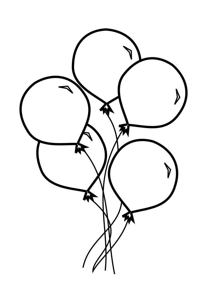 balloons to color pin by ashley lawver on diy coloring pages birthday color balloons to