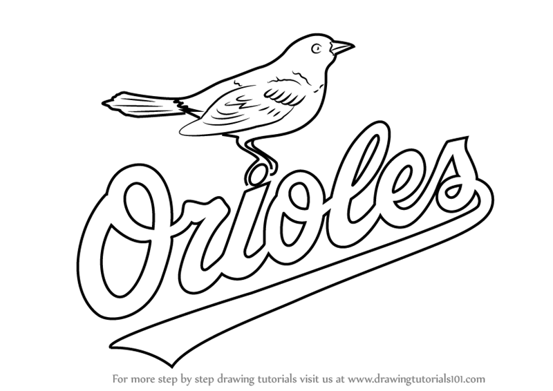 baltimore orioles coloring pages baltimore orioles logo coloring page free printable baltimore pages coloring orioles