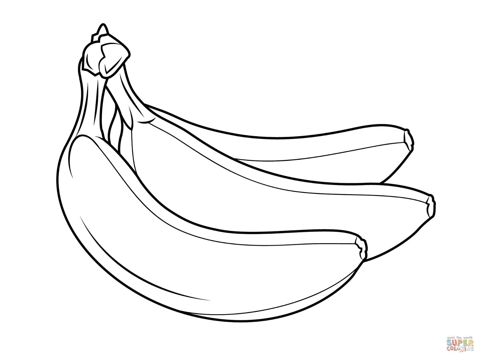 banana coloring page banana coloring page only coloring pages banana coloring page