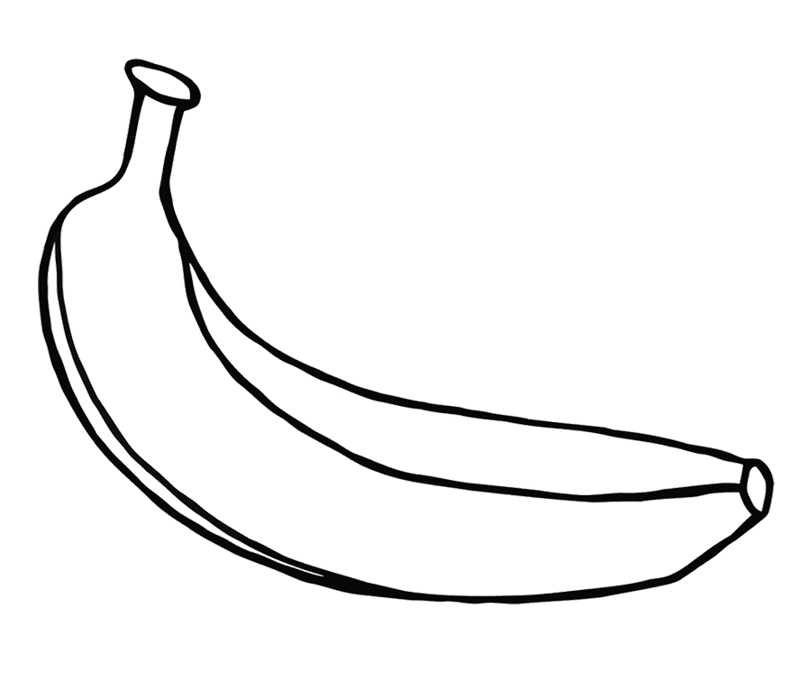 banana picture to color banana coloring page fruits and vegetables color to banana picture