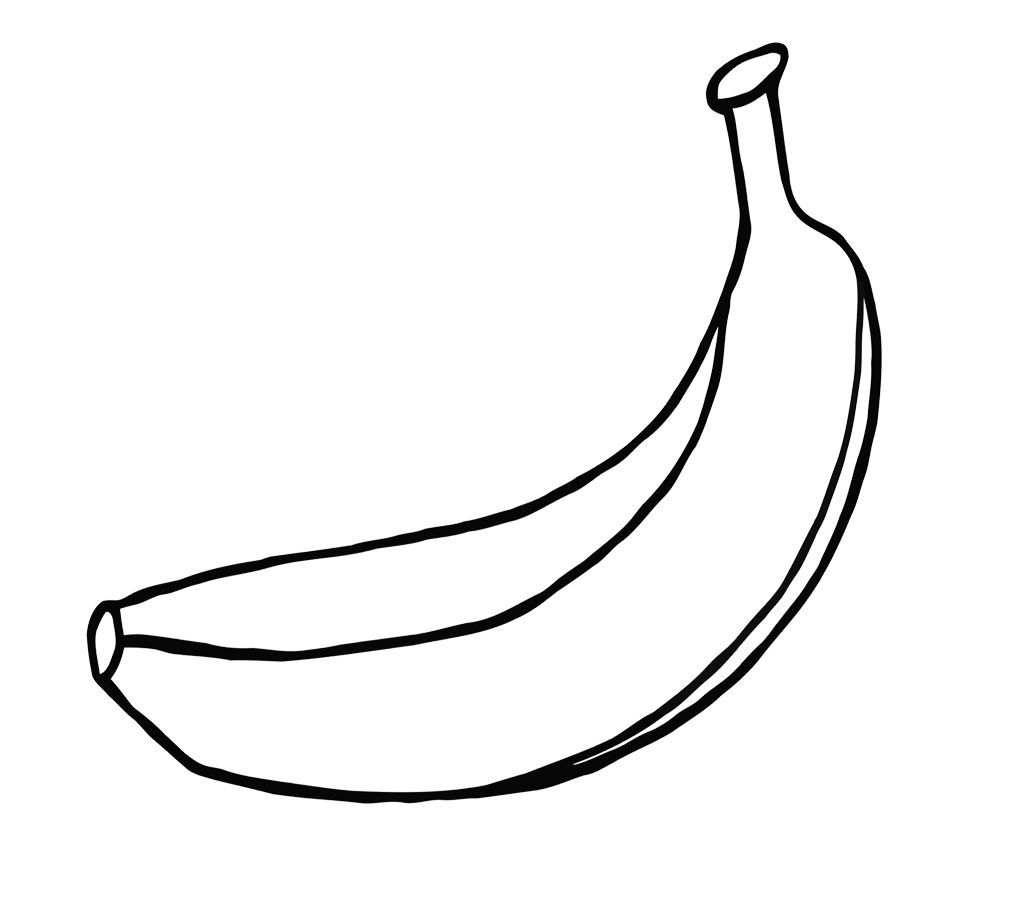 banana picture to color banana coloring page pinterest banana coloring page color banana to picture