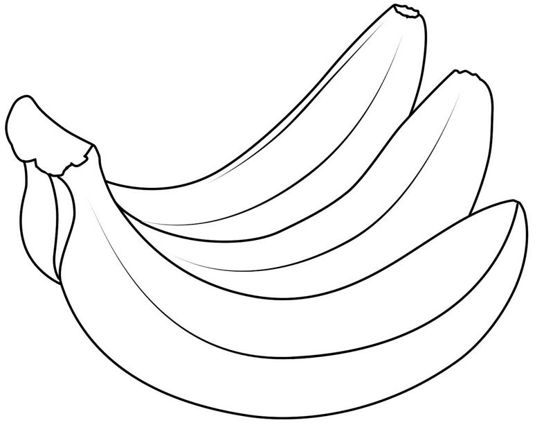 banana picture to color banana coloring pages to download and print for free to banana picture color