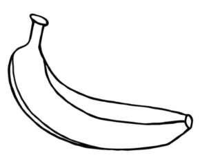 banana picture to color banana line drawing clipart best color picture to banana