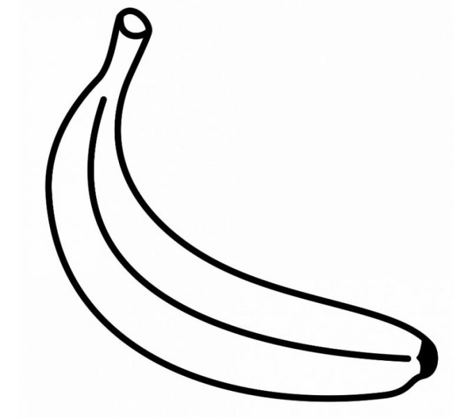 banana picture to color bananas coloring pages free coloring pages banana color picture to