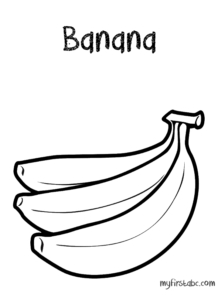 banana picture to color free printable fruit coloring pages for kids color to picture banana
