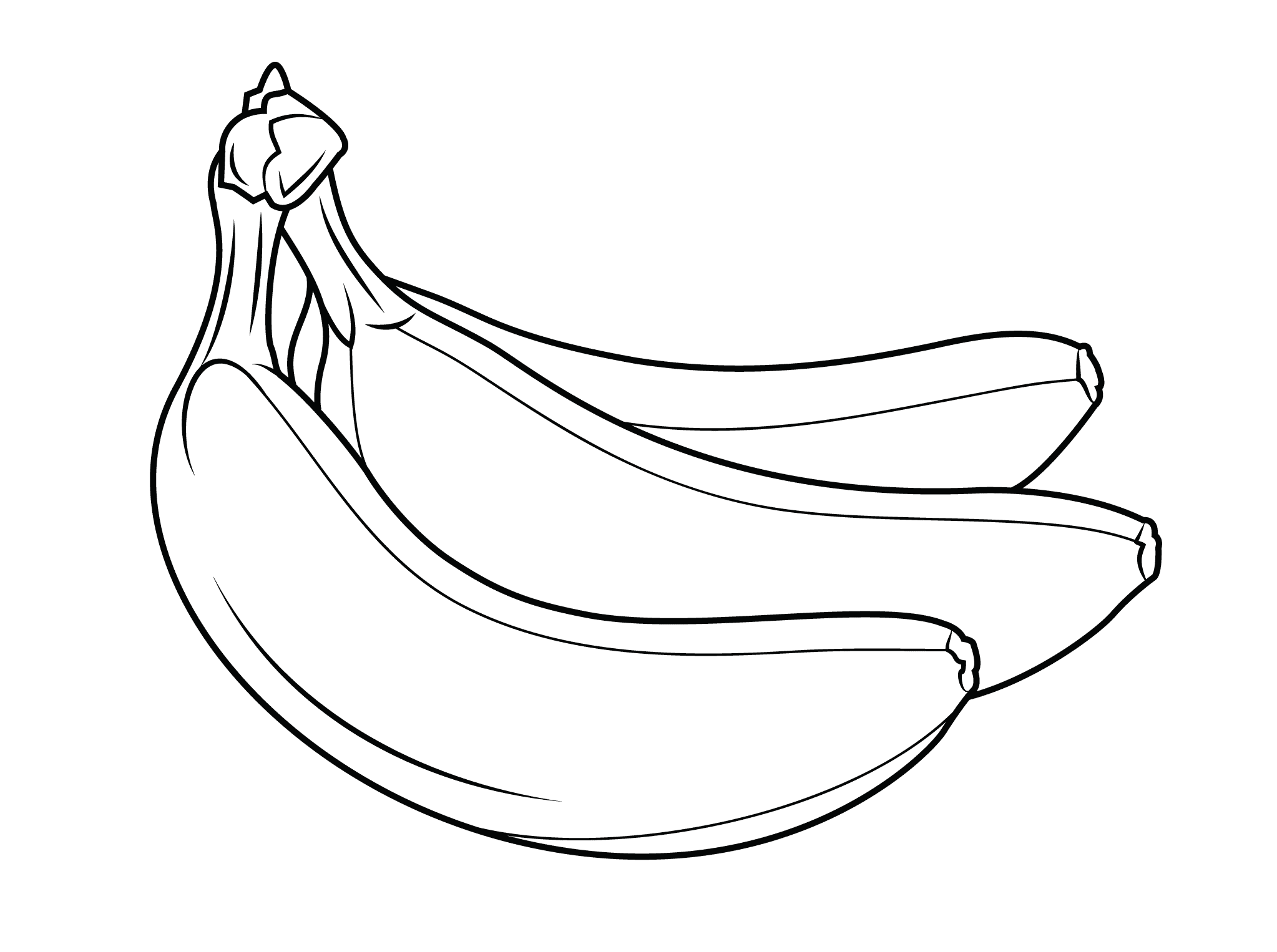 banana picture to color one banana fruits coloring pages coloring pages banane picture color to banana
