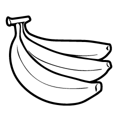 banana picture to color simple fruits easy coloring for toddlers picture to banana color