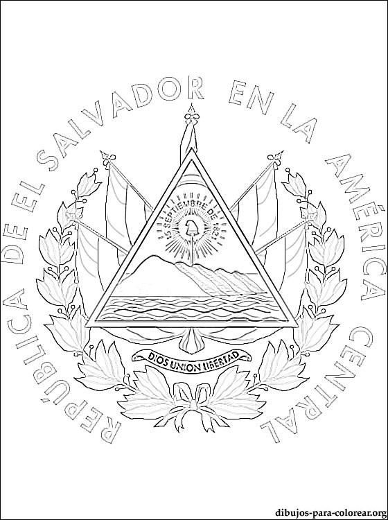 bandera de el salvador para dibujar laminas para colorear coloring pages mapa y bandera de dibujar de el bandera salvador para