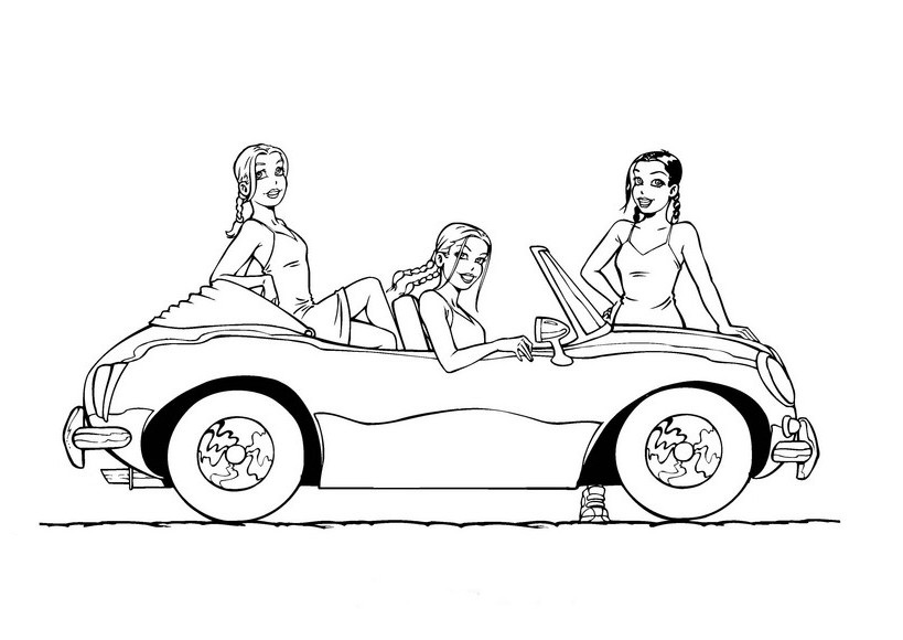 barbie car coloring pages barbie car coloring pages at getcoloringscom free barbie car pages coloring