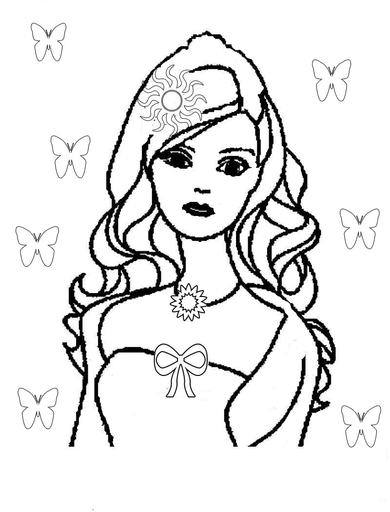 barbie doll coloring pages barbie coloring page for girl to print for free doll barbie pages coloring