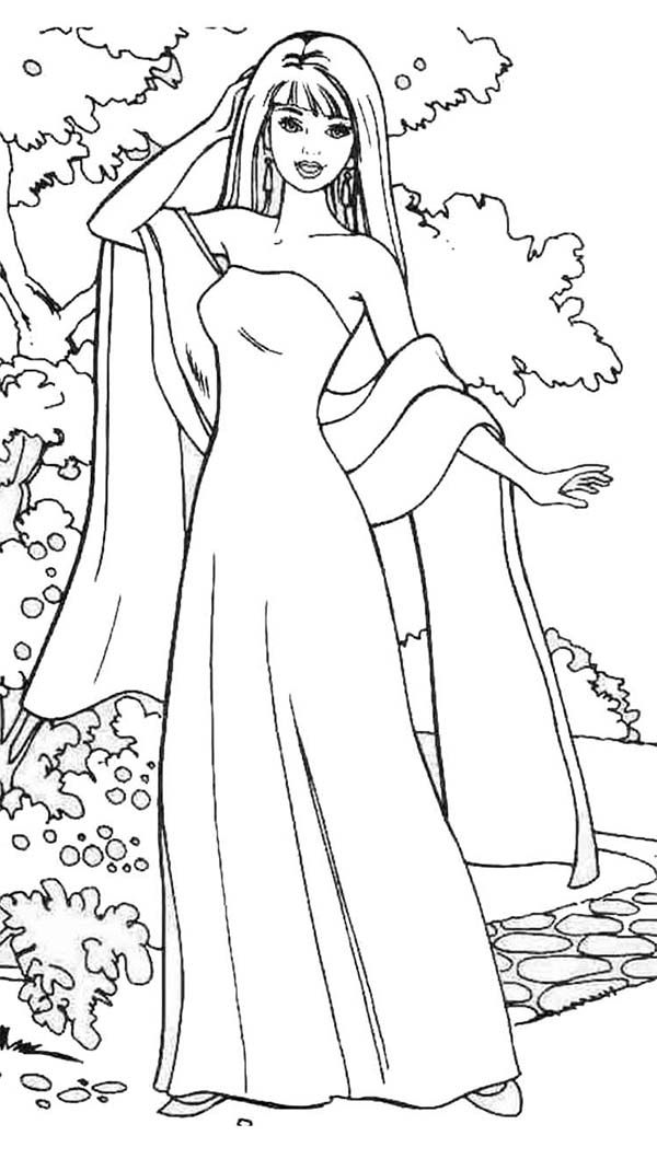 barbie doll coloring pages coloring barbie coloring pages for kids barbie coloring doll pages