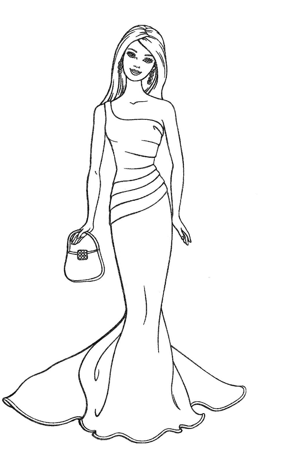 barbie doll coloring pages free printable barbie coloring pages for kids pages barbie doll coloring