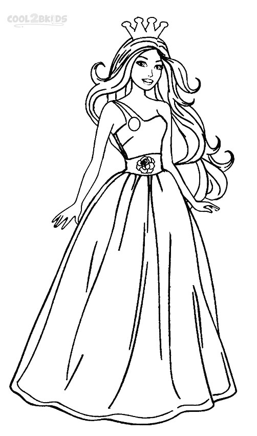 barbie princess coloring pages lumina long hair coloring pages hellokidscom coloring barbie princess pages