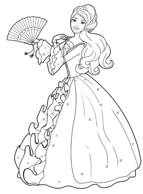 barbie princess coloring pages printable barbie princess coloring pages for kids cool2bkids coloring barbie princess pages