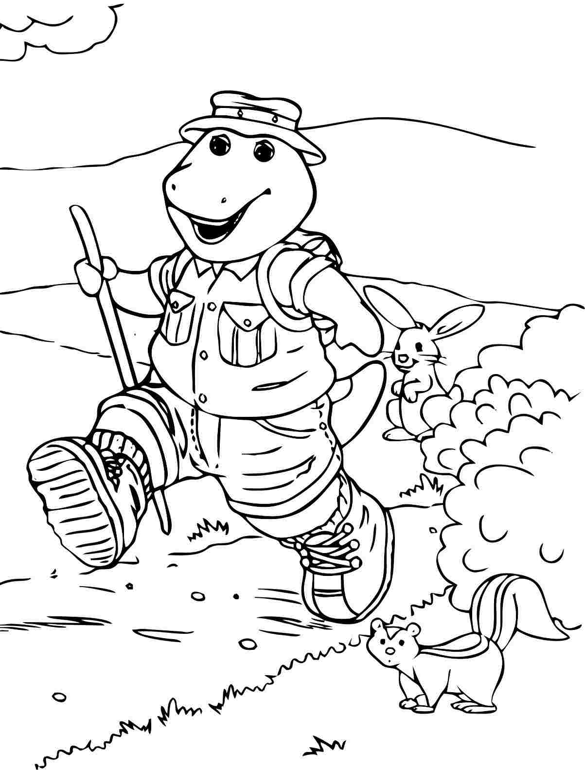 barney coloring barney coloring pages getcoloringpagescom coloring barney
