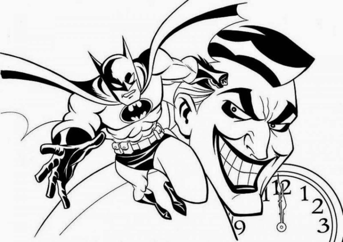 batman and joker coloring pages the joker cartoon drawing at getdrawingscom free for pages coloring and joker batman