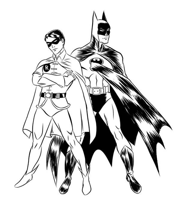 batman and robin pictures to color batman robin nightwing red hood drawing sketch coloring page to pictures robin and batman color