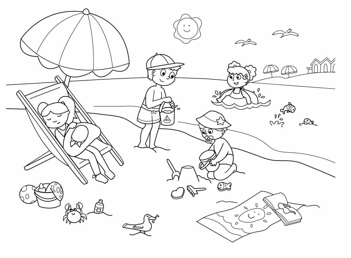 beach coloring page free printable beach coloring pages for kids page coloring beach