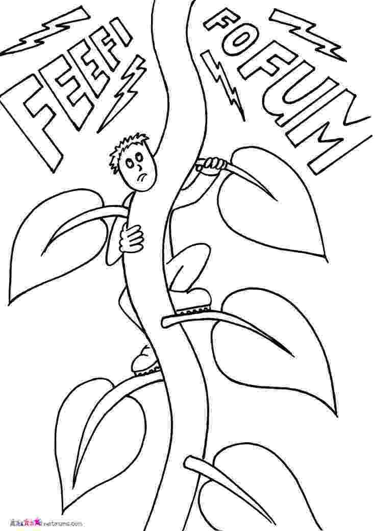 beanstalk coloring page jack beanstalk coloring pages page beanstalk coloring