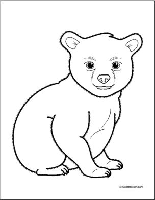 bear cub coloring pages polar bear cartoons clipartsco coloring bear cub pages