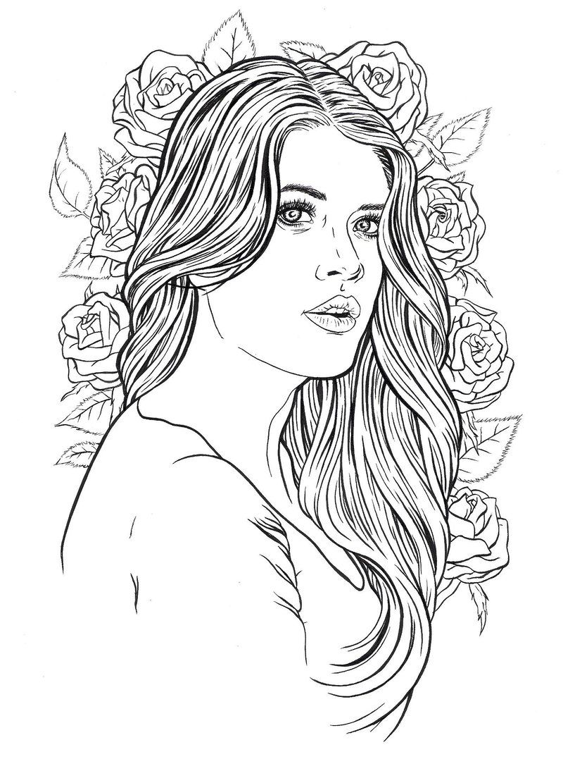 beautiful colouring pictures beautiful girl coloring pages royalty free vector image pictures colouring beautiful