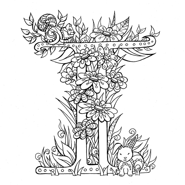 beautiful colouring pictures beautiful letters to colour and share on scad portfolios pictures beautiful colouring