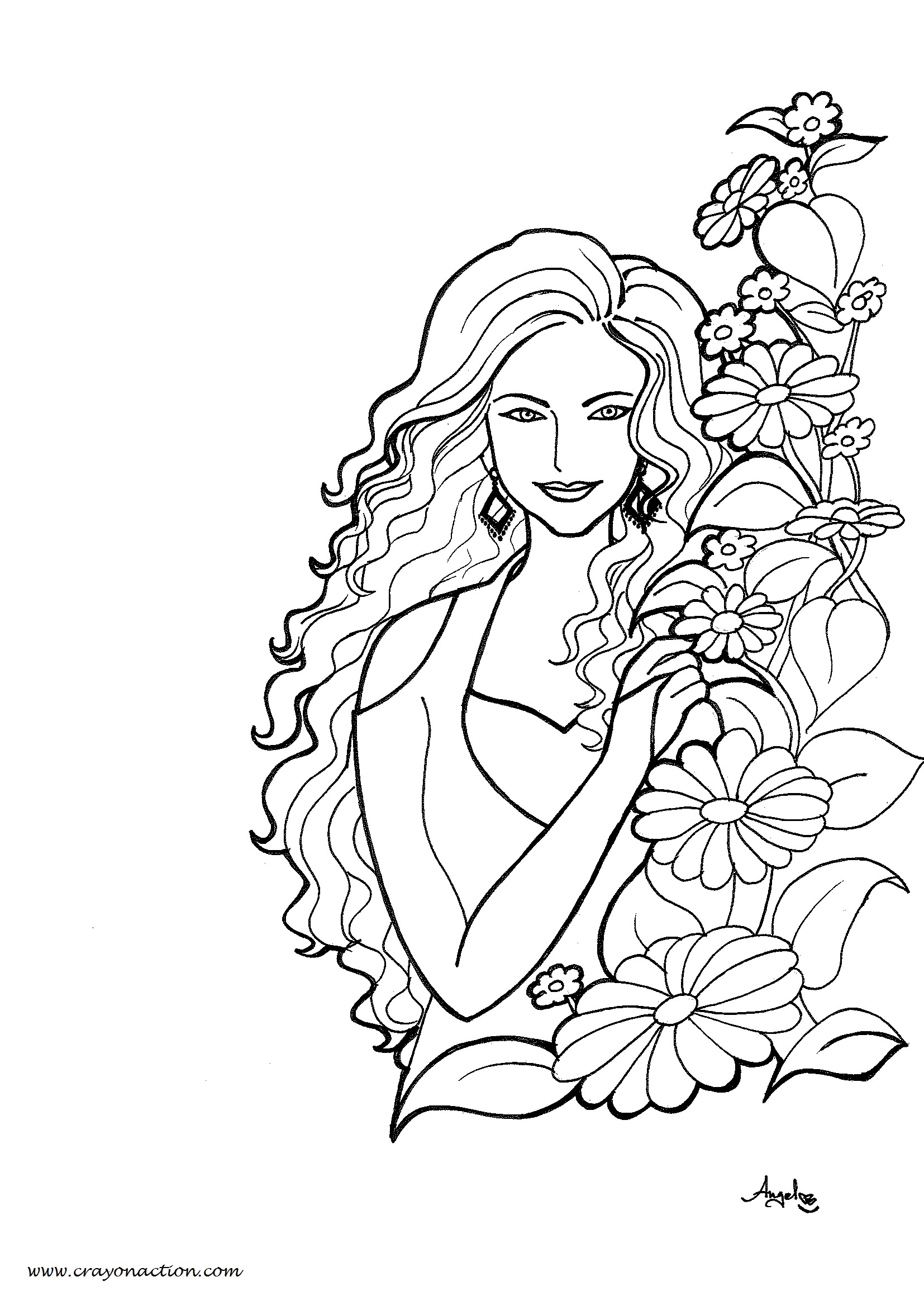beautiful colouring pictures coloring page with beautiful princess in pretty dress beautiful colouring pictures