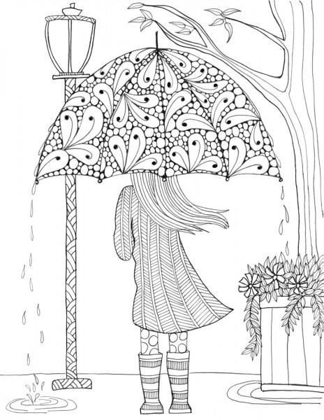 beautiful colouring pictures most beautiful umbrella girl coloring page favecrafts pictures beautiful colouring
