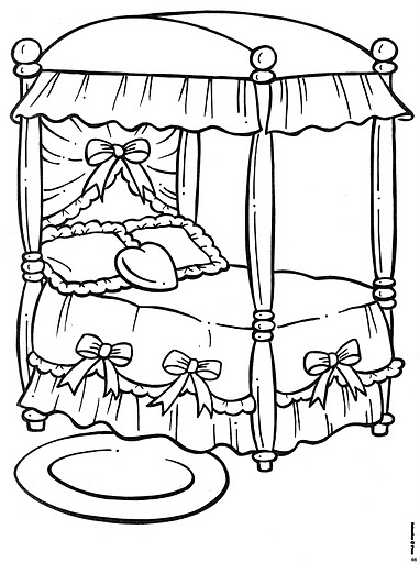 bed coloring pages 為孩子們的著色頁 bed free coloring pages pages bed coloring
