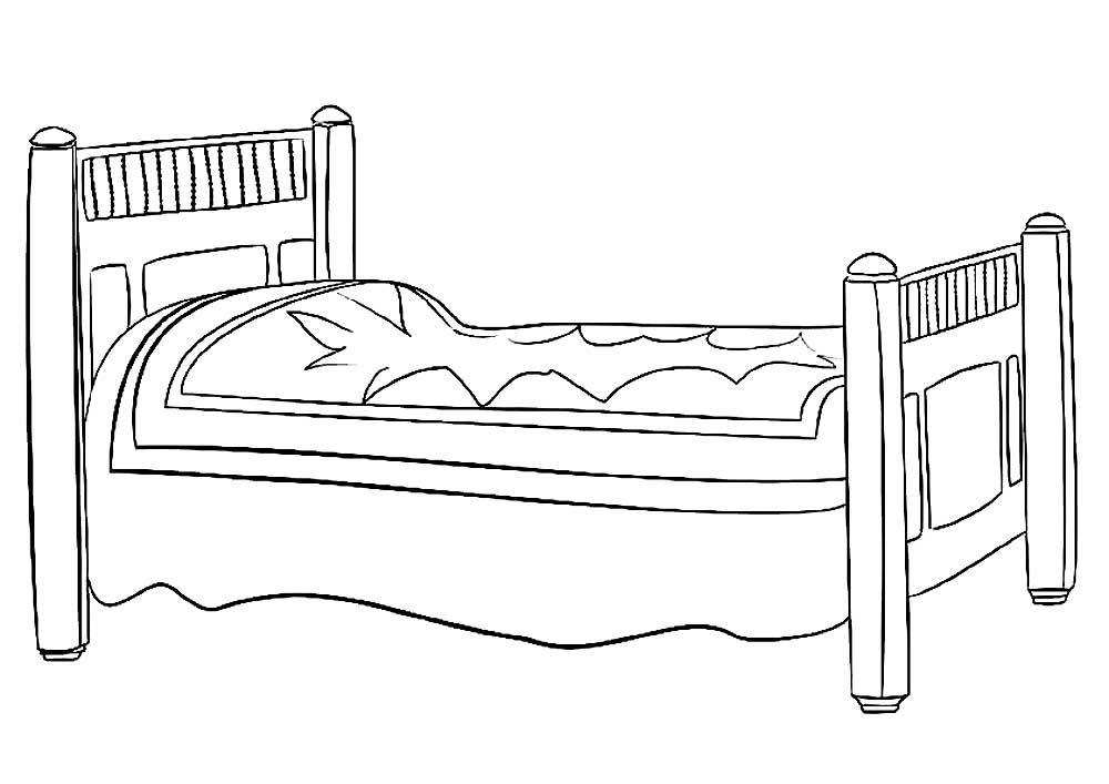 bed coloring pages clip art basic words bed coloring page i abcteachcom coloring pages bed