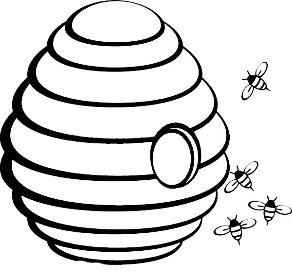 beehive coloring page bee coloring pages getcoloringpagescom page coloring beehive