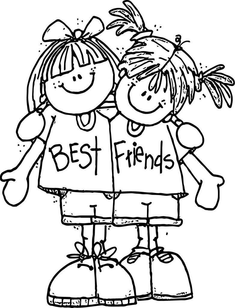 best friend coloring pictures best friends coloring pages printable coloring home friend best coloring pictures