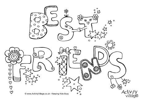 best friend coloring pictures best friends colouring page pictures friend best coloring
