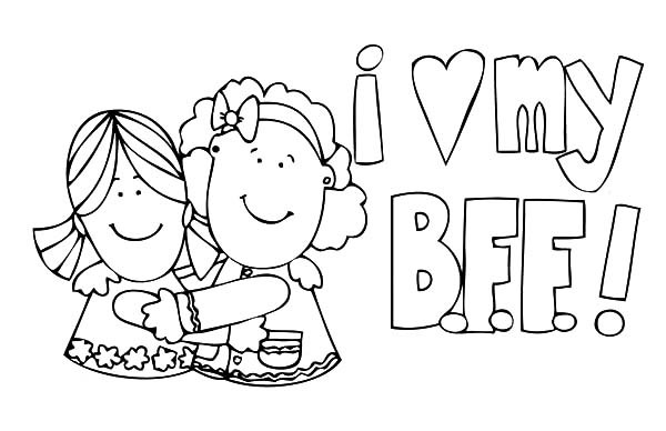 best friend coloring pictures best friends forever coloring page free printable friend pictures coloring best