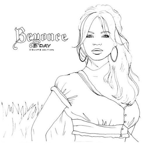 beyonce coloring book coloring page famous people beyonce 1 beyonce book coloring