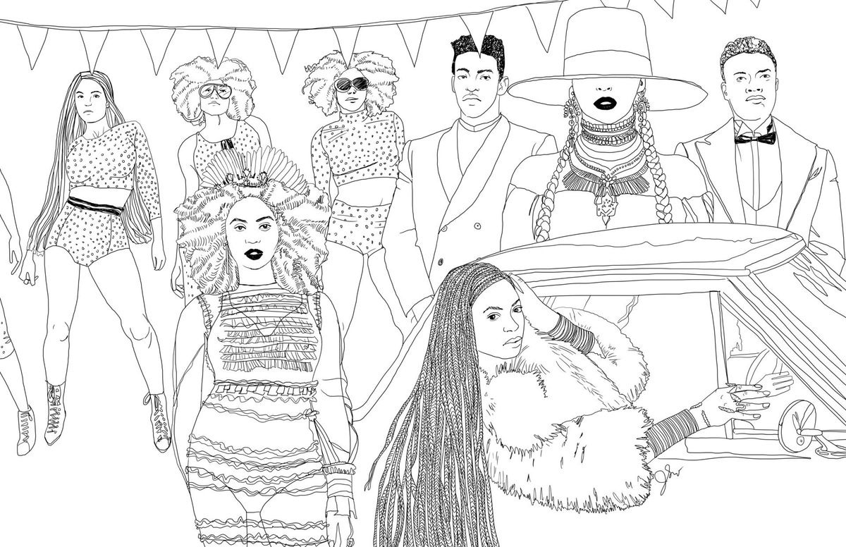 beyonce coloring book these awesome illustrations of beyoncé39s quotlemonadequot will beyonce coloring book