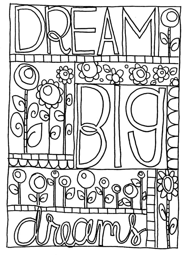 big coloring pages dream big coloring google search free coloring pages pages big coloring