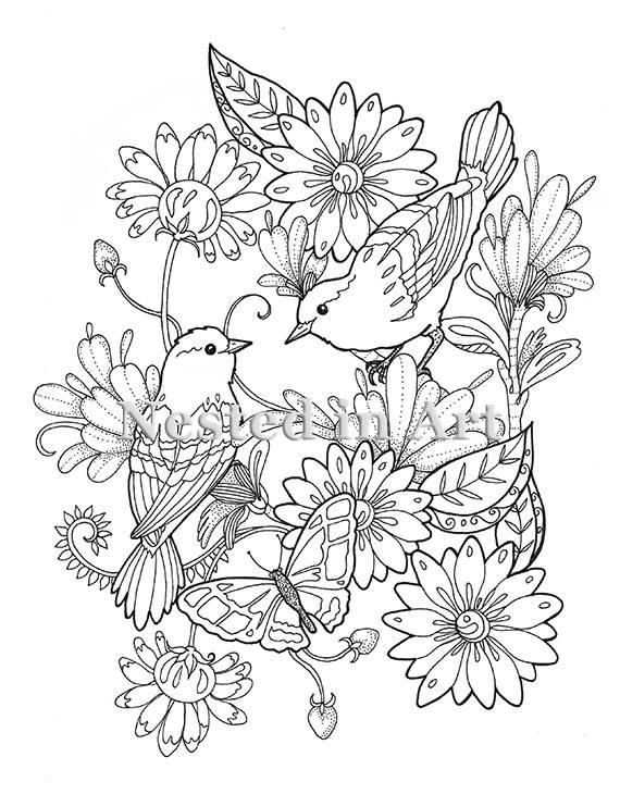 birdsandblooms coloring book state flower and state bird coloring page coloring birdsandblooms book