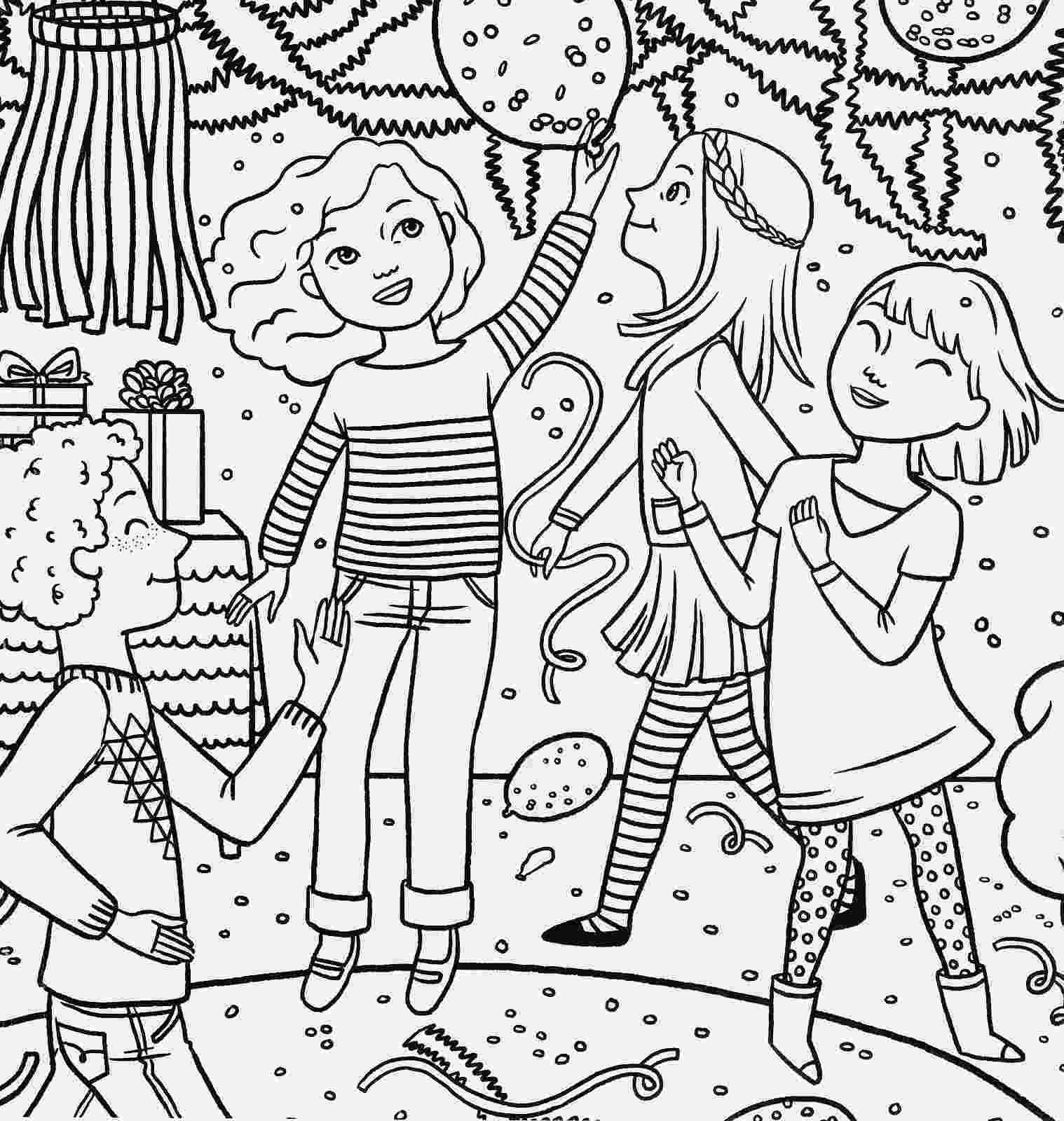 birthday party coloring page birthday coloring pages page coloring party birthday