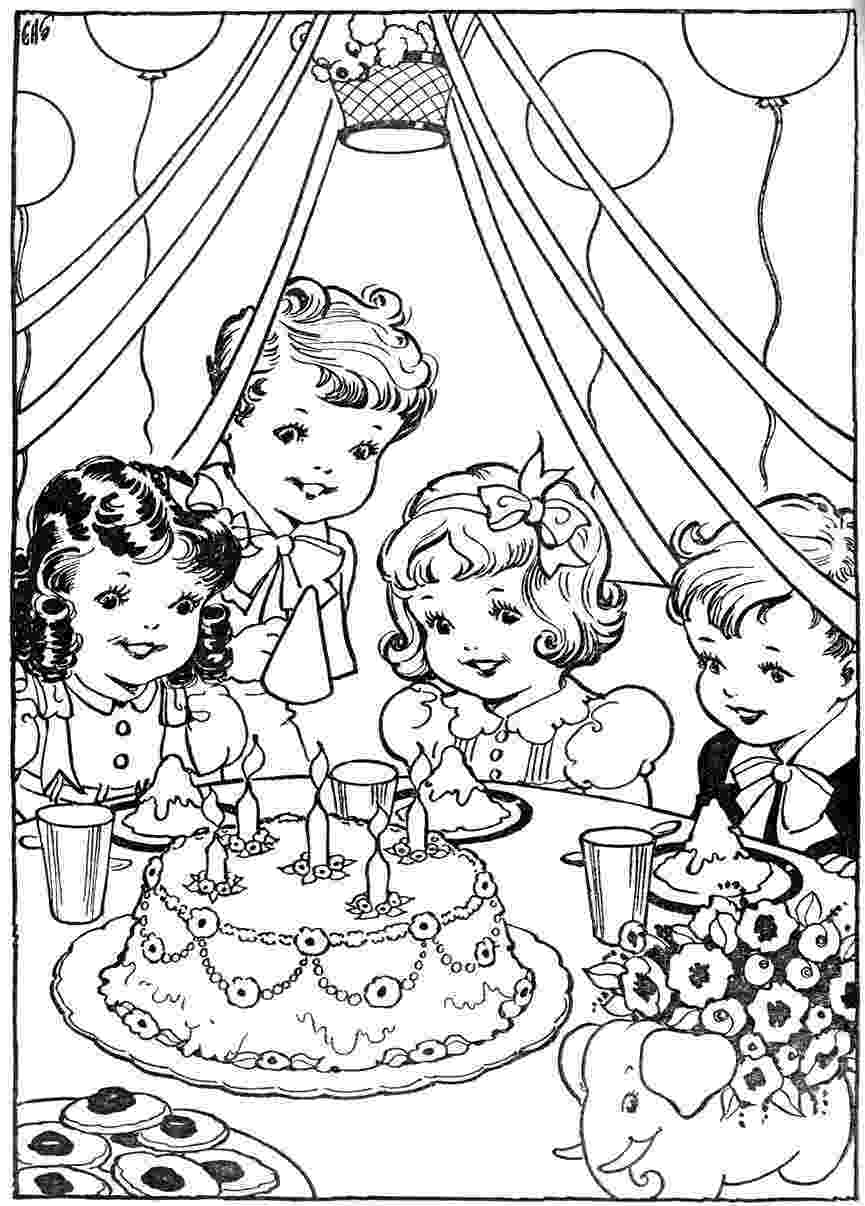 birthday party coloring page birthday party kiddicolour party page birthday coloring