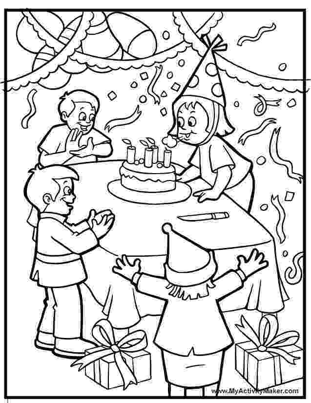 birthday party coloring page coloring pages birthday party coloring home birthday page coloring party