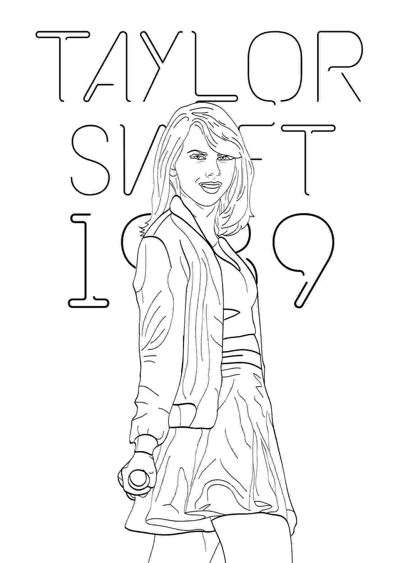 black and white coloring sheets taylor swift black and white coloring pages download sheets black white coloring and