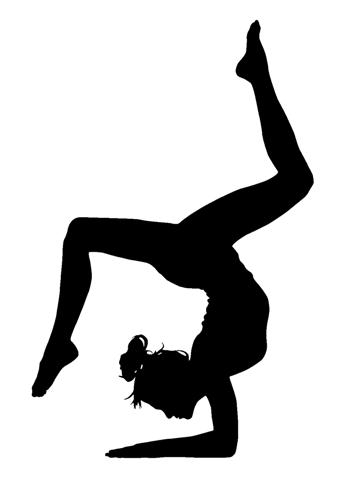 black and white gymnastics pictures amazoncom gymnast gymnastics silhouette sports vinyl sticker car decal 6quot white black and white pictures gymnastics