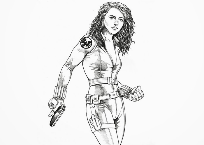 black widow coloring page black widow from the avengers coloring pages hellokidscom coloring widow black page