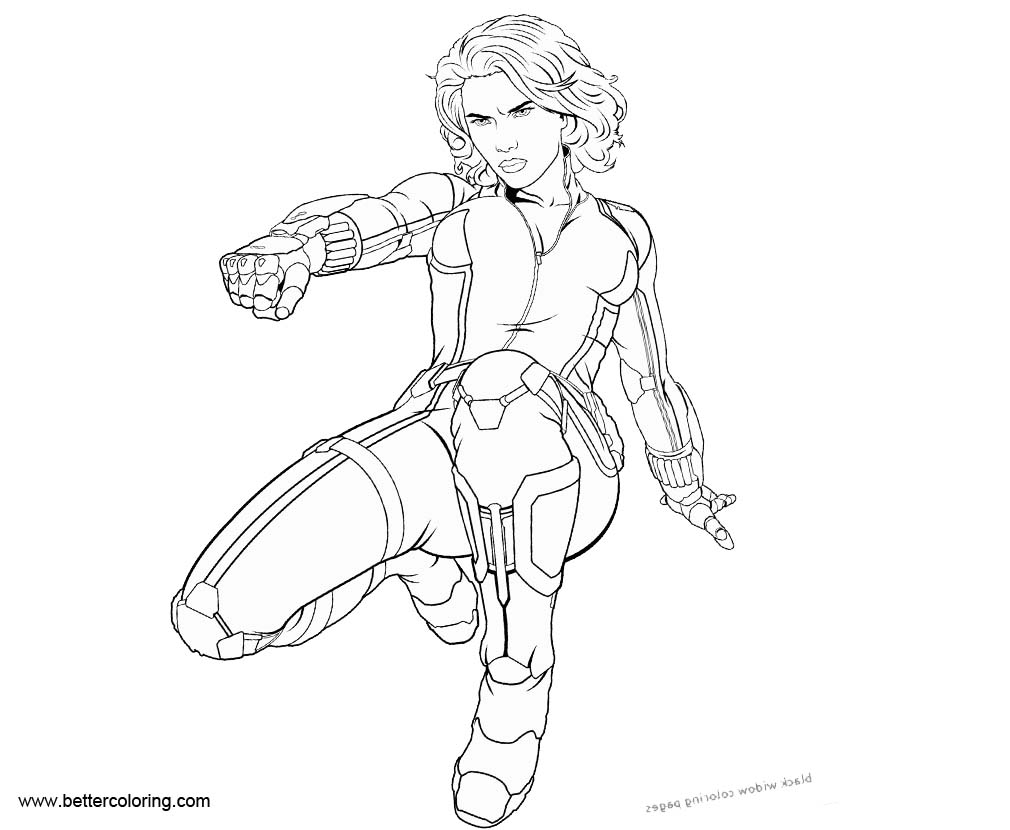 black widow coloring page captain america black widow coloring page widow page coloring black
