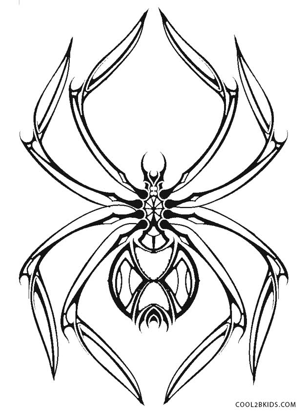 black widow spider coloring page free printable spider coloring pages for kids cool2bkids coloring widow spider black page