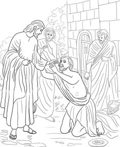 blind bartimaeus coloring page jesus heals bartimaeus free colouring pages coloring blind page bartimaeus