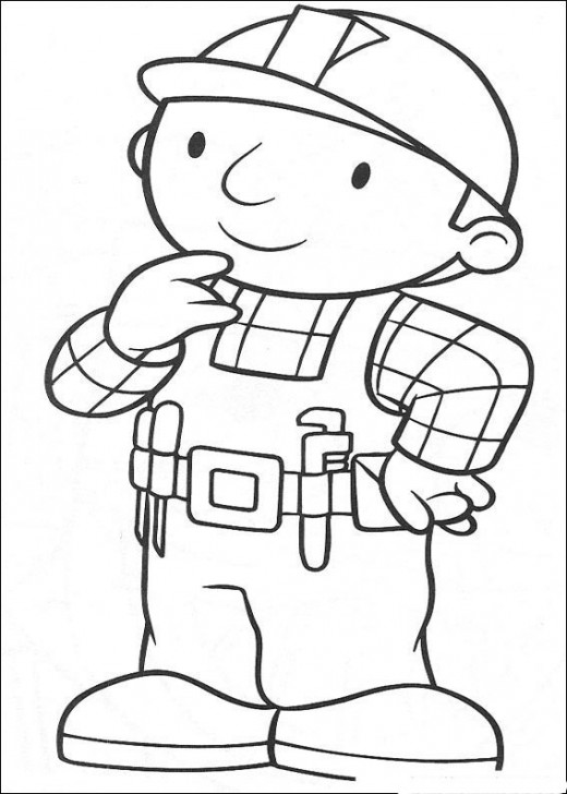 bob the builder coloring page free printable bob the builder coloring pages for kids bob builder the page coloring
